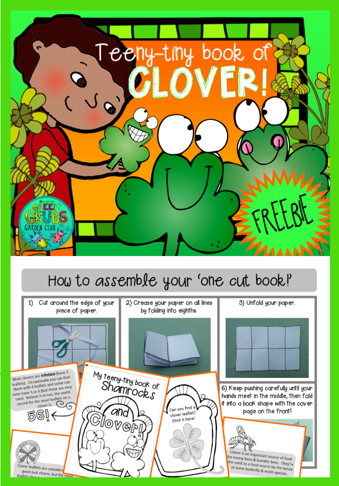 St Paddy's day clover hunt! ~FREE PRINTABLE~