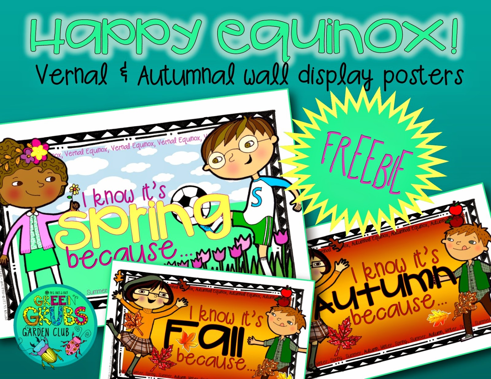 Happy Equinox! (FREE Vernal & Autumnal wall display posters)