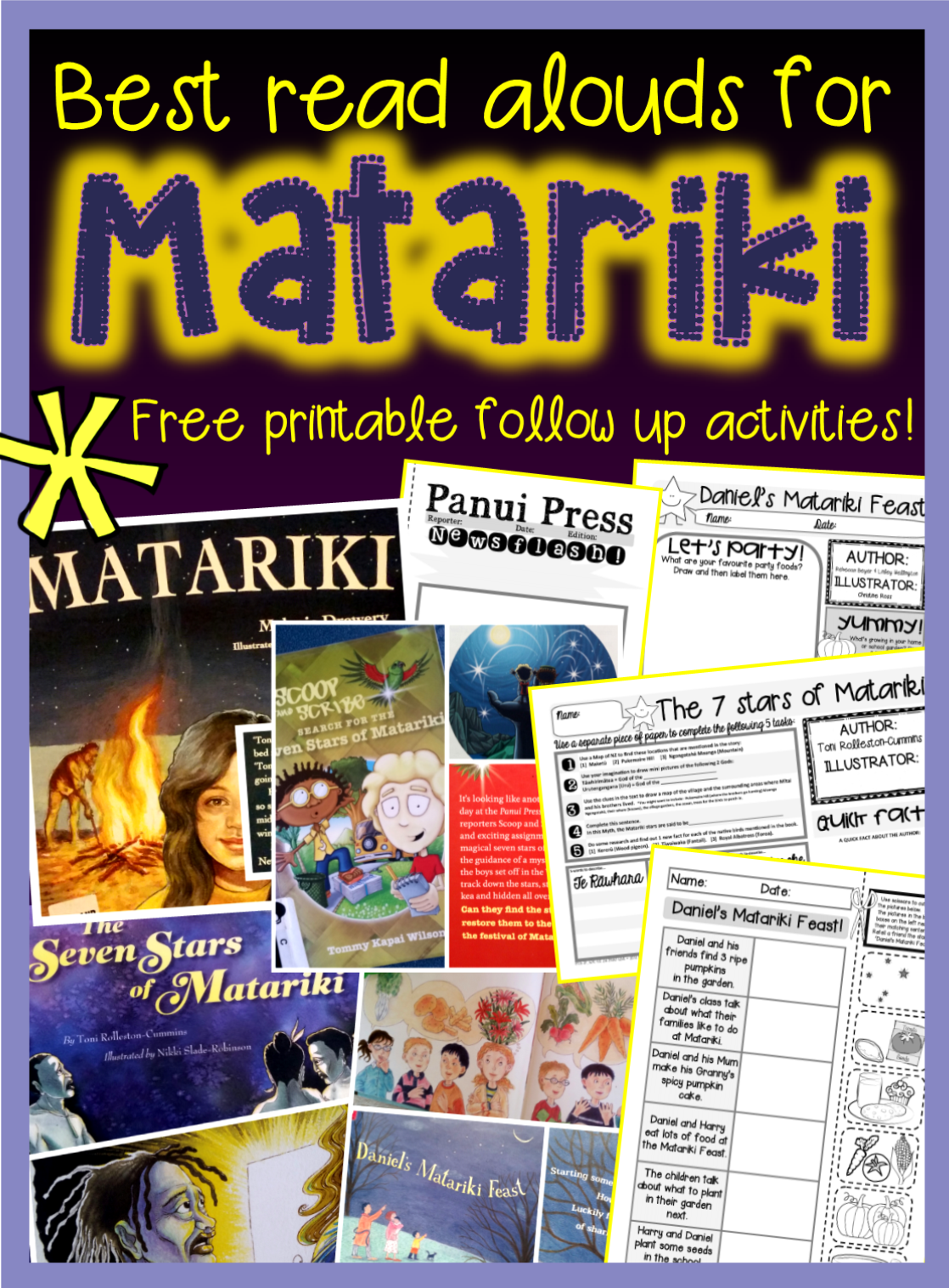 Best Matariki books for Primary {+ FREE follow up activity sheets & colouring sheet}
