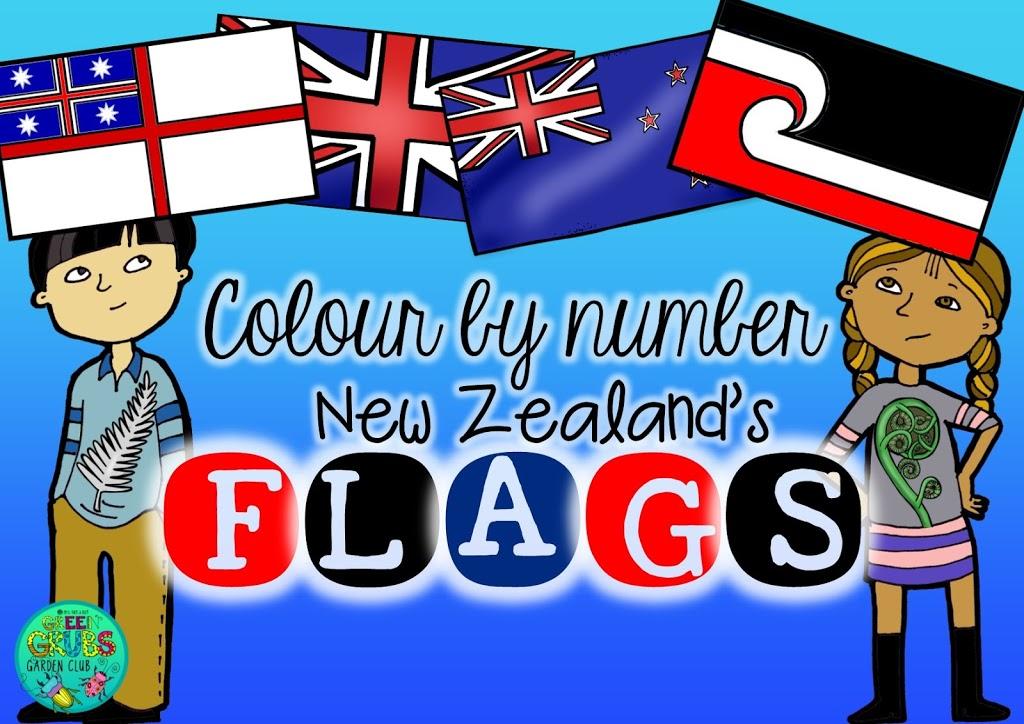 NZ flag Referendum 2015-16 {Free colour by number flag sheets}