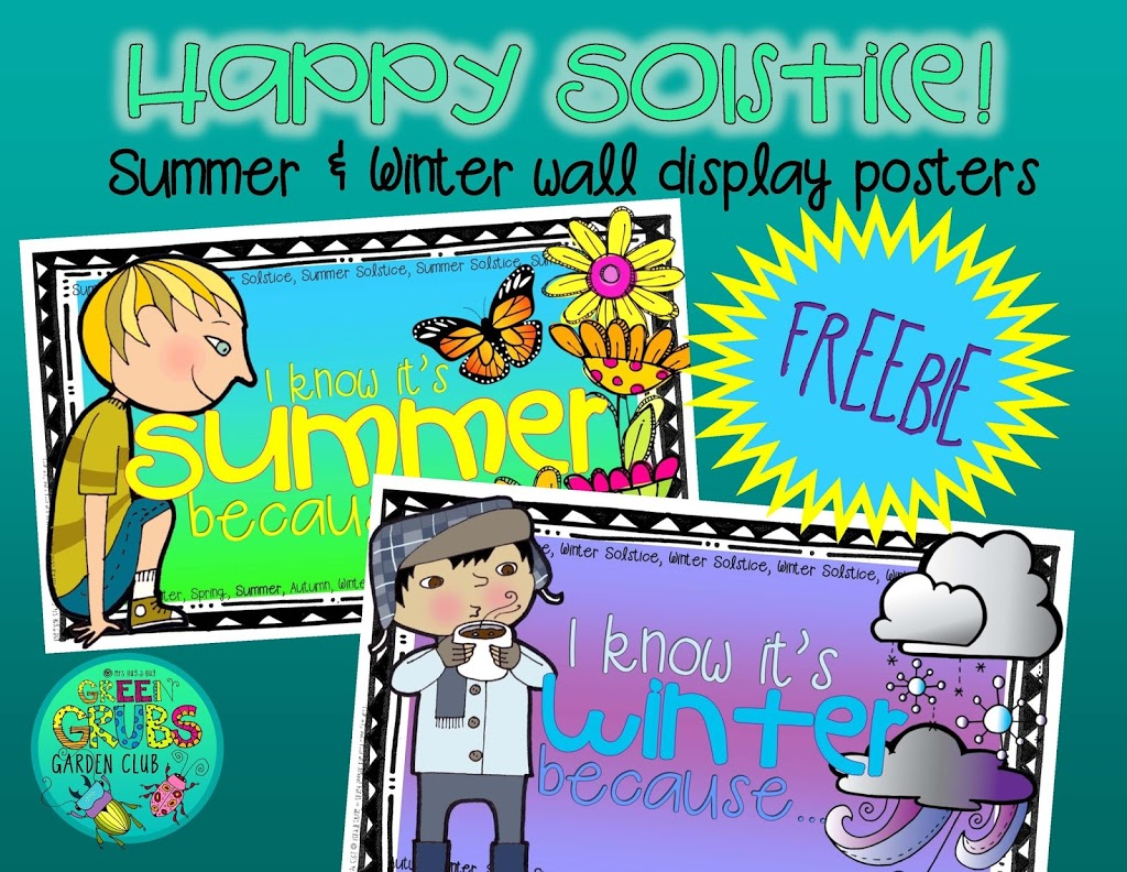 Happy Solstice! (FREE summer & winter wall display posters)