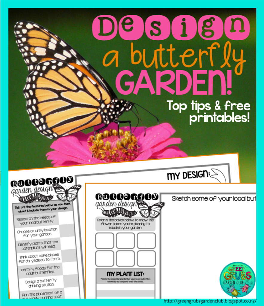 Designing a Butterfly Garden (+ FREE printables)