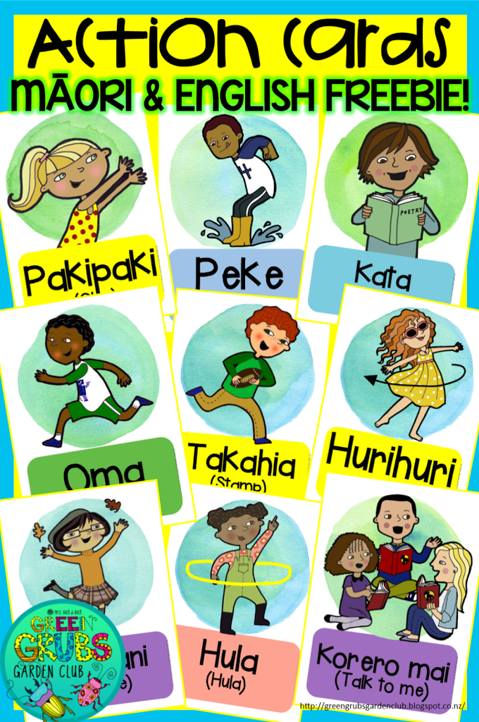 Action Cards in Te Reo Māori & English {FREEBIE!}