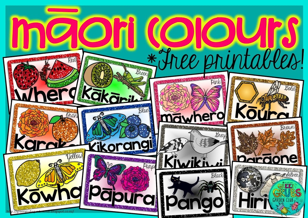 Māori & Samoan Colours ~ FREE prinatable mini posters!