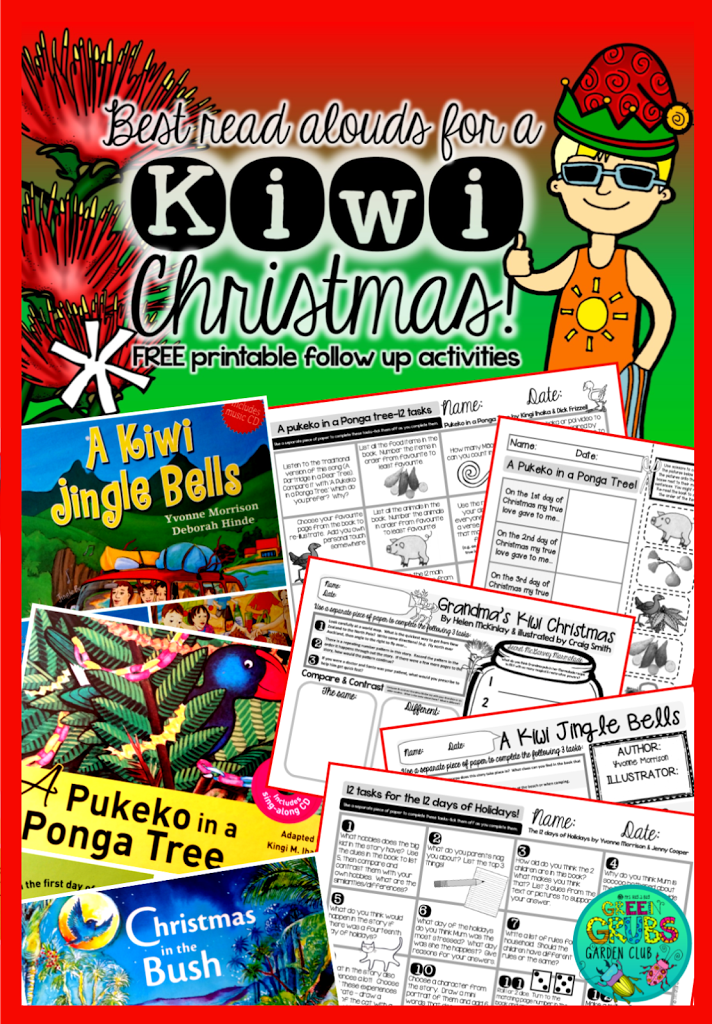 Best Kiwi Christmas Read Alouds! {+FREE Printable follow up activity sheets}