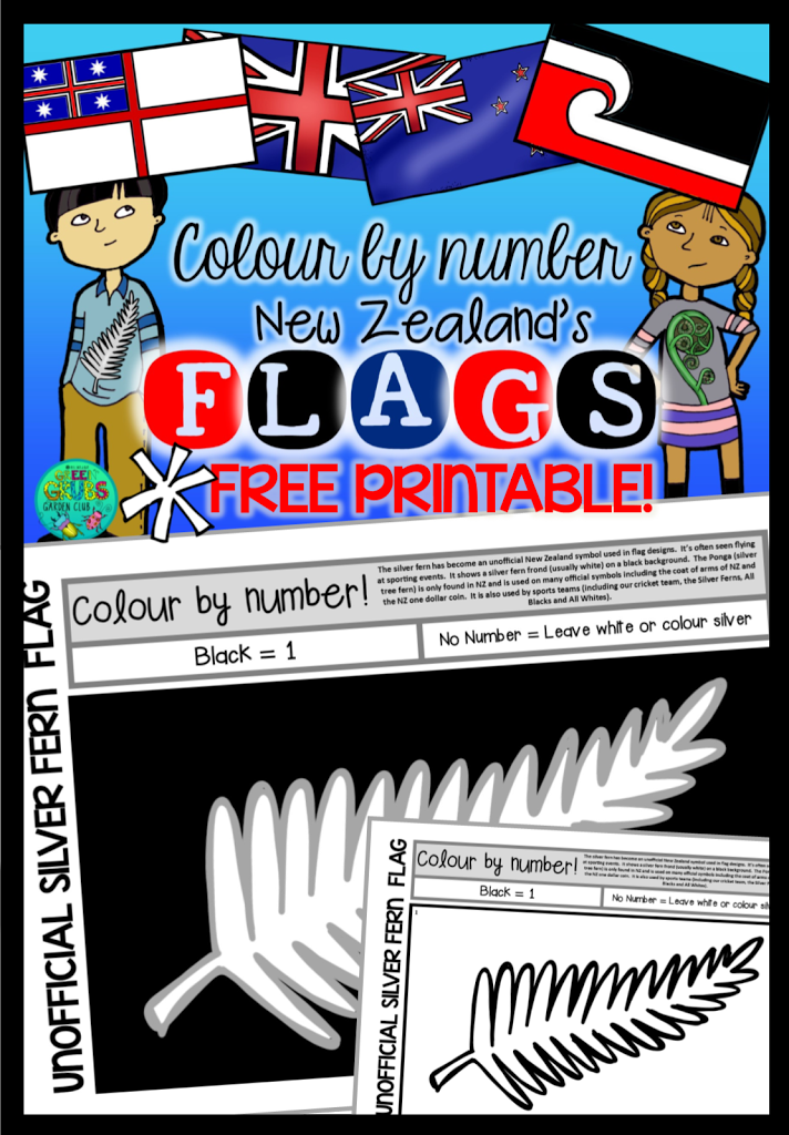 Silver Fern Flag Template ~ FREE PRINTABLE!