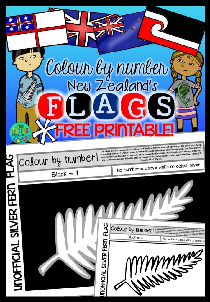 Silver Fern Flag Template ~ FREE PRINTABLE!
