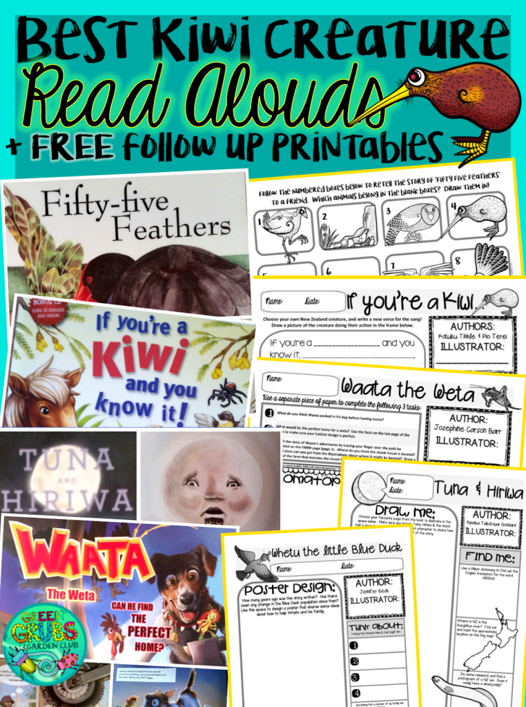 Best Read Alouds about NZ Creatures! {+ FREE printable follow up activities}