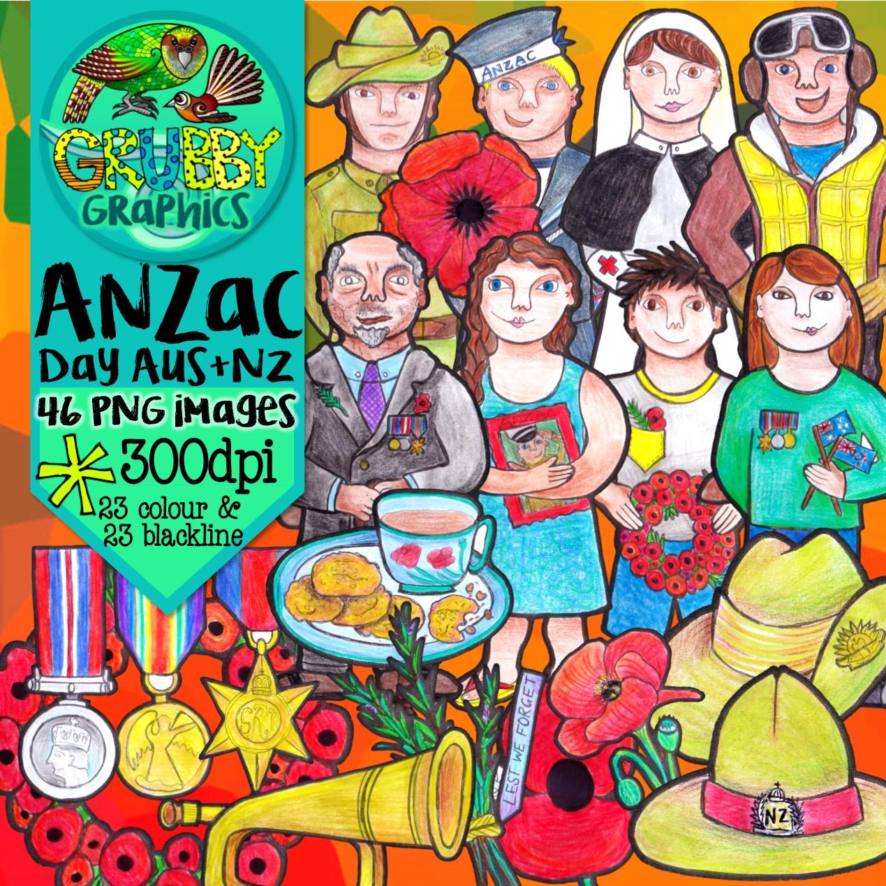 Anzac Day Clip Art Australia New Zealand