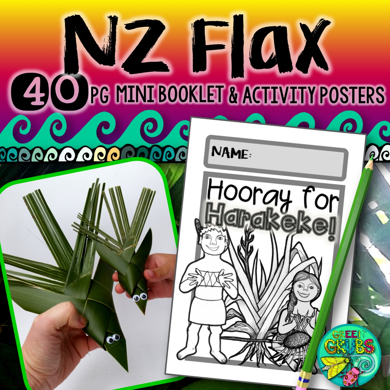 New Zealand Flax Fun Facts Harakeke Booklet
