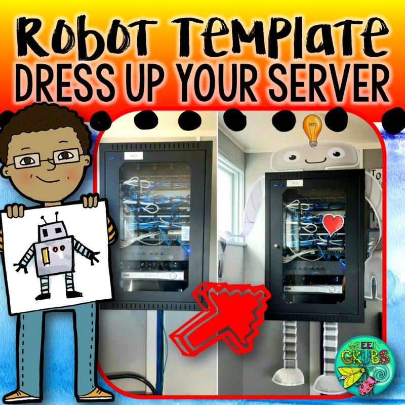Robot Server Box FREE printable!