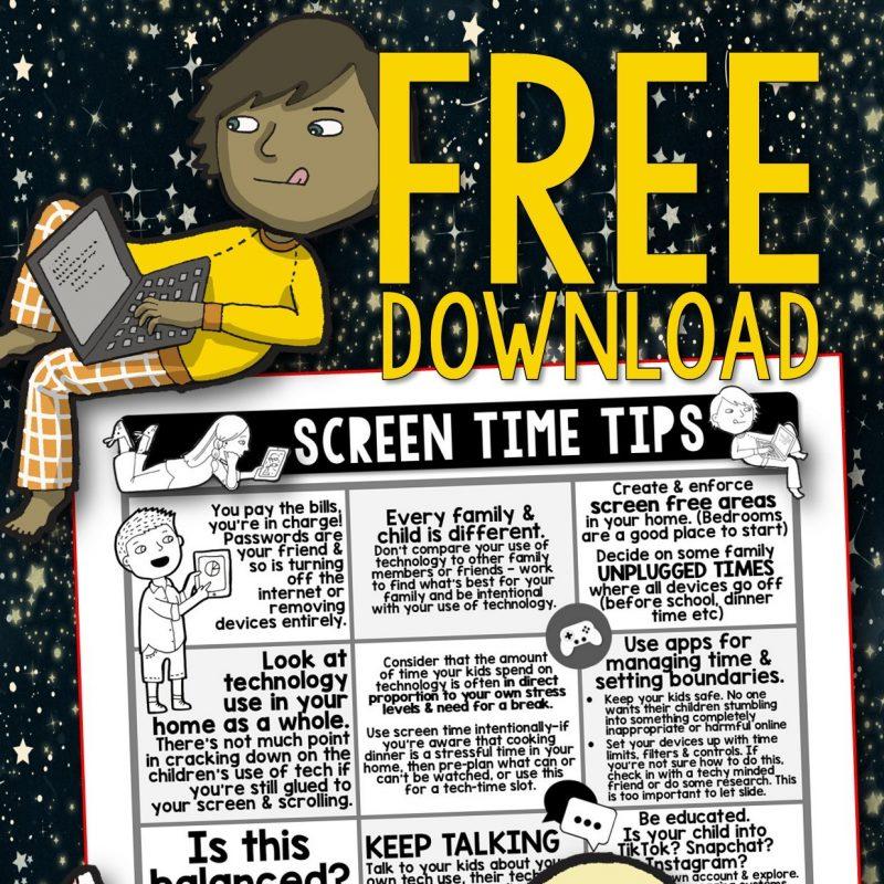 Screen Time (FREE printable)